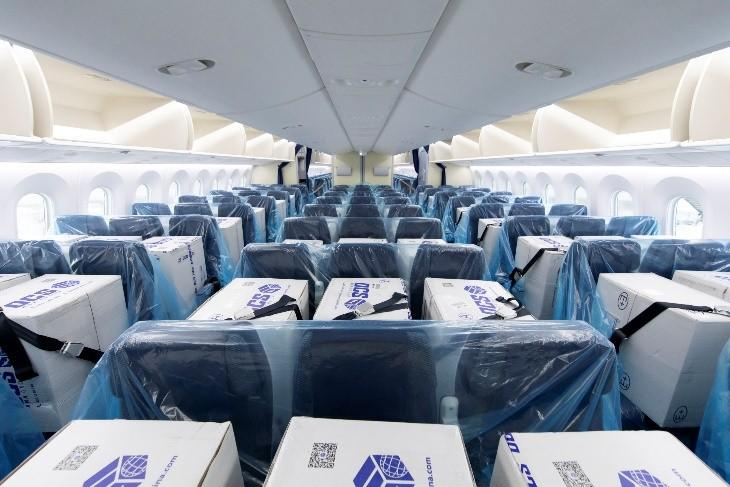旅客機の客席にマスクなどの医療関連物資を搭載し輸送開始します ANA ...
